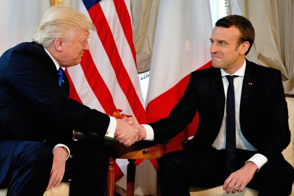 Emmanuel Macron Donald Trump 2