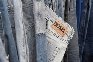 NEW YORK, NY - FEBRUARY 09: Clothing on sale at Diesel's opening of a real knock-off store on Canal Street during NY Fashion Week on February 9, 2018 in New York City. (Photo by Presley Ann/Getty Images for Diesel)